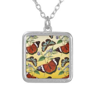 de vlinders mengen geel zilver vergulden ketting