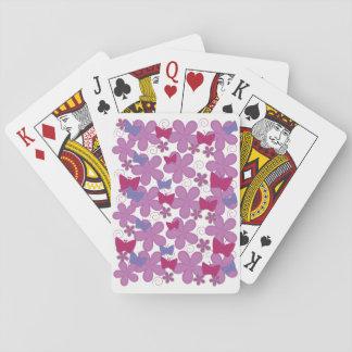 De Vlinders van de lente   Roze Pokerkaarten