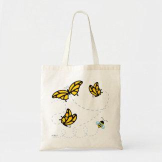 De Vlinders van de monarch en stuntelen het Canvas Budget Draagtas