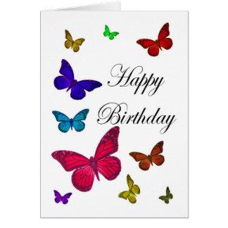 De Vlinders van de verjaardag Kaart