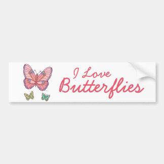 De Vlinders van de waterverf Bumpersticker