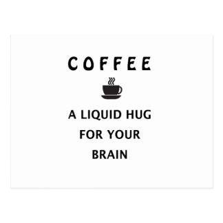 De Vloeibare Omhelzing van de koffie voor Uw Briefkaart