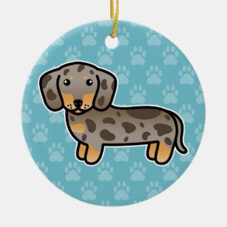 De Vlotte Hond van Isabella en Tan van de Tekkel Rond Keramisch Ornament