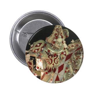 De vlotter van de harlekijn bij carnaval in Rio Speld Buttons