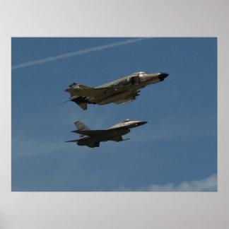 De vlucht van de Erfenis van de Luchtmacht van de Poster
