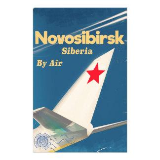 De vluchtposter van Novosibirsk Siberië Sovjetunie Briefpapier