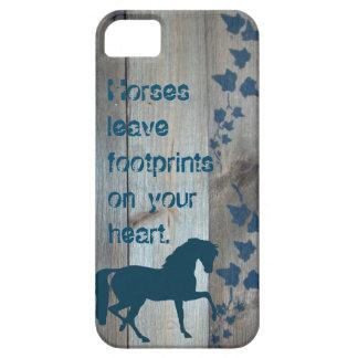 De Voetafdrukken van het paard Barely There iPhone 5 Hoesje