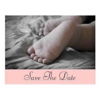 De Voeten van het baby Briefkaart