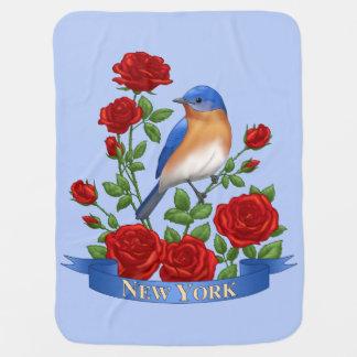 De Vogel en de Bloem van de Staat van New York Inbakerdoek
