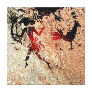 De Vogel van Bhimbhetka en de Schutter Canvas Afdruk