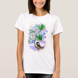 De Vogel van Chickadee in het Overhemd van de Boom T Shirt