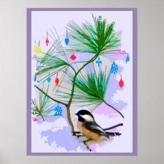 De Vogel van Chickadee in het Poster van de