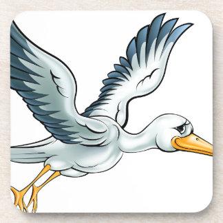 De Vogel van de Cartoon van de ooievaar Drankjes Onderzetter