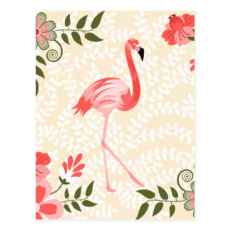 De Vogel van de flamingo Briefkaart