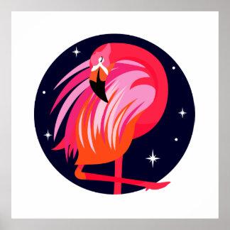 De Vogel van de flamingo Poster