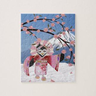 De Vogel van de Geisha van Sakura in de Bloesems Puzzel