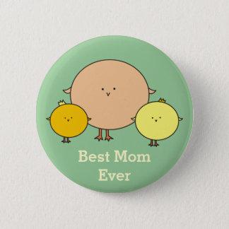 De Vogel van de moeder met Knoop Twee Kinder Ronde Button 5,7 Cm