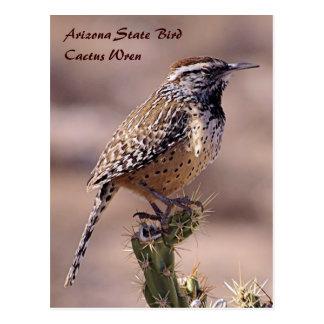De Vogel van de Staat van Arizona - het Briefkaart Wens Kaart