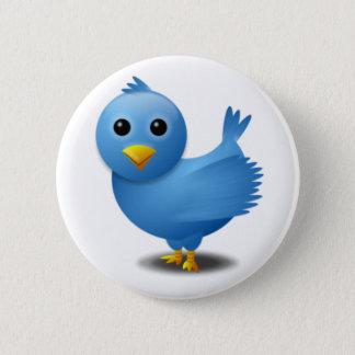 De vogel van de tjilpen ronde button 5,7 cm