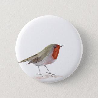 De vogel van Robin Ronde Button 5,7 Cm