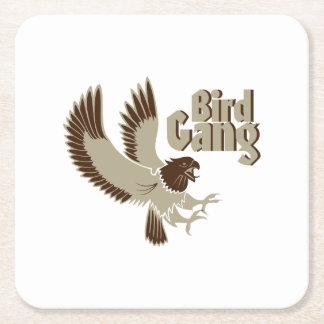 De Vogelobservatie van de Troep van de vogel Vierkante Onderzetter