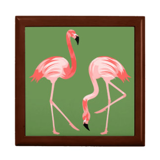 De Vogels van de flamingo Decoratiedoosje