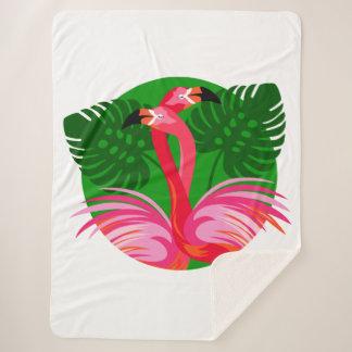 De Vogels van de flamingo Sherpa Deken