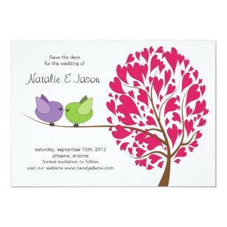 De Vogels van de liefde bewaren de kaart van de 12,7x17,8 Uitnodiging Kaart