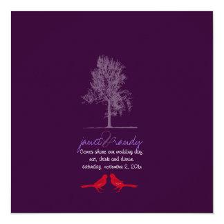 De Vogels van de Liefde van PixDezines, Rode, 13,3x13,3 Vierkante Uitnodiging Kaart