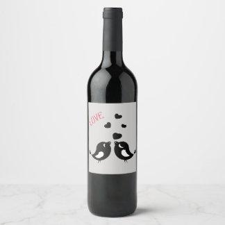 De Vogels van de liefde Wijnetiket