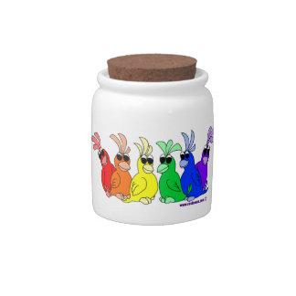 De Vogels van de regenboog: De Kruik van het snoep Porseleinen Snoeppot