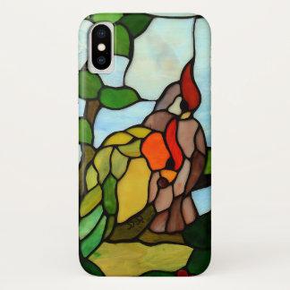 De Vogels van het gebrandschilderd glas iPhone X Hoesje