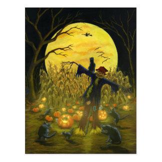 De vogelverschrikkerbriefkaart van Halloween Briefkaart