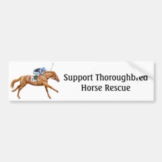 De volbloed- Sticker van de Bumper van de Redding