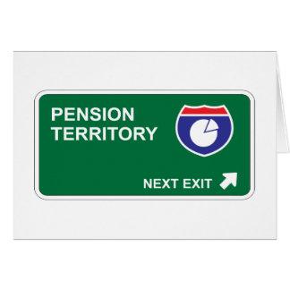 De Volgende Uitgang van het pensioen Kaart
