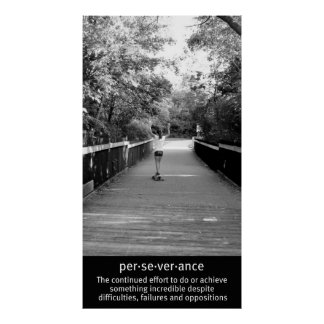 De Volharding van Longboard van het meisje Poster