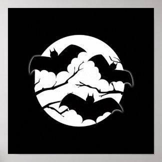 De Volle maan Halloween van het Silhouet van de Poster
