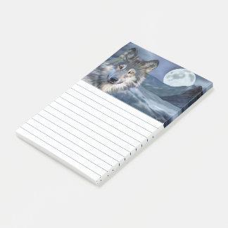 De Volle maan van de Wolf van de winter Post-it® Notes