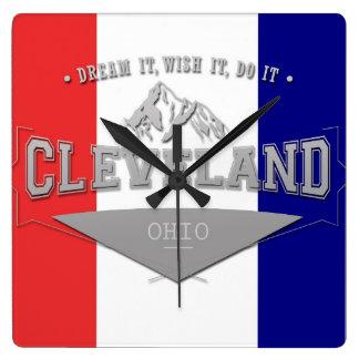 De volledige Droom van Cleveland Ohio van het Vierkante Klok