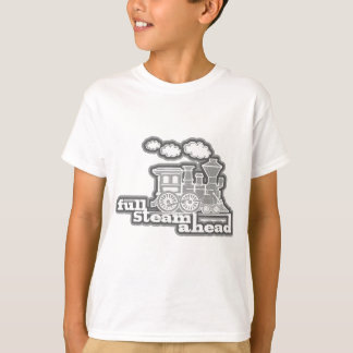 De volledige oranje kinder t-shirt van de stoom