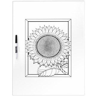 De Volwassen Kleuring van de zonnebloem Whiteboards