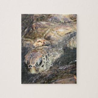 De volwassen Schildpad van het Zee Legpuzzel