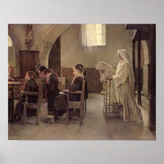 De vooravond van de Eerste Heilige Communie, vóór  Poster