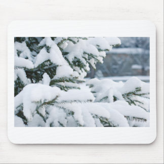 De vooravondboom van Kerstmis het sneeuwen Muismat
