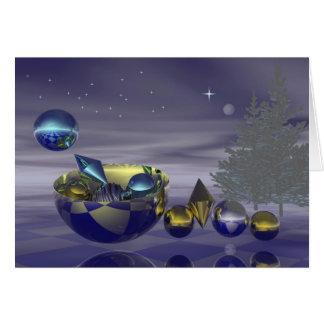 De vooravondkaart van Kerstmis Briefkaarten 0