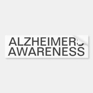 De Voorlichting van Alzheimers Bumpersticker
