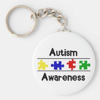 De Voorlichting van het autisme Basic Ronde Button Sleutelhanger