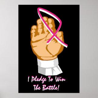 De Voorlichting van Kanker van de borst die ik ert Afdruk