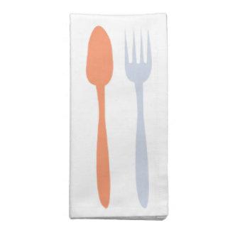 De vork en de Lepel Bedrukte Servetten