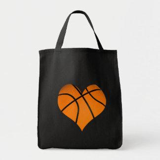 De Vorm van het Hart van het basketbal Boodschappen Draagtas